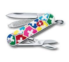 <b>Нож</b>-<b>брелок</b> Victorinox Classic, <b>58 мм</b>, 7 функ, «<b>VX Colors</b>» (0.6223 ...