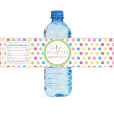 Decorating Water Bottles For Baby Shower Colorful Dots Personalized Water Bottle Labels Baby Shower 65