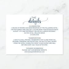 Wedding Reservation Cards Navy Blue Simple Calligraphy Wedding
