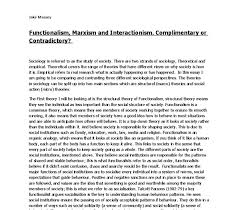 functionalism marxism and interactionism complimentary or  document image preview