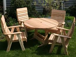 mesmerizing round wood table plans of garden and patio small