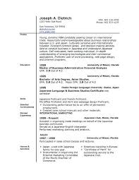 Microsoft Word 2007 Resume Template Resume Format On Word Resume