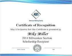 Scholarship Certificate Template For Word Template For Certificate Of Award Kierralewis Com
