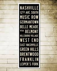 Nashville Sign Decor SMALL Nashville Subway Art Nashville Art Nashville Poster 7