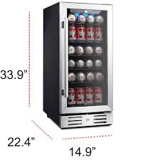 kalamera krc 90bv 15 beverage cooler refrigerator 96 can built in single zone touch control com