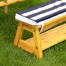 beautiful kidkraft picnic table bench cushions best of outdoor amp set with umbrella navy cabinetl home turquoise patio umbrella blue striped