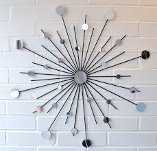 24 Inch metal Starburst wall decor with mirror for wall ideas