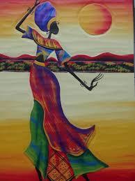 african woman art dancing under the moon art design of african american wall art
