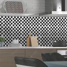 Fashion Black White Grid Pattern PVC ...