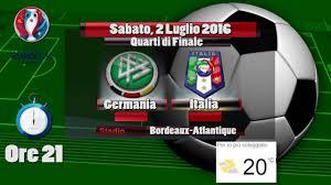 Germania Italia Quarti di Finale Europei 2016 - Video Statistiche - YouTube