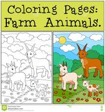 P Ginas Del Colorante Animales Del Campo Familia De La Cabra Colorantes Animales L