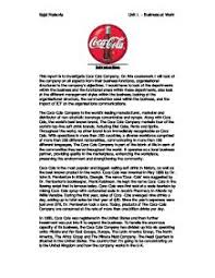 this report is to investigate coca cola company on this  page 1 zoom in