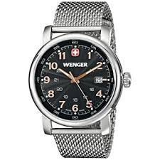 wenger watches overstock com the best prices on designer mens wenger men s stainless steel urban classic date watch