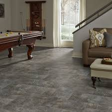 Resilient Modular Slate Vinyl Floor For Basement Kitchen Foyer Laundry Room  And Dining Spaces