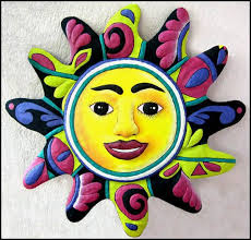 >24 hand painted metal sun wall hanging recycled by tropicaccents  24 hand painted metal sun wall hanging recycled by tropicaccents 64 95 tropical home d cor
