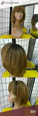 223 Honey Blonde Wig Bangs Beauty