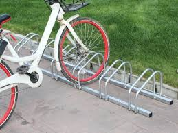 6 slot floor mounted bike stand