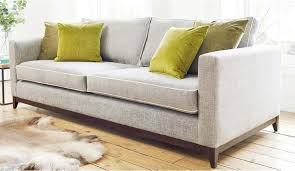 darwin grand sofa in habitat cloud with contrast piping in mystic dove accent cushions in