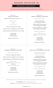 wedding invitation wording and etiquette Formal Wedding Invitation Wording Date wedding invitation wording cheat sheet fine day press for oh so beautiful paper formal wedding invitation wording samples