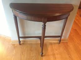 half table for hallway. Vintage Half Moon Foyer Table For Hallway On Wrought Iron Tabl I