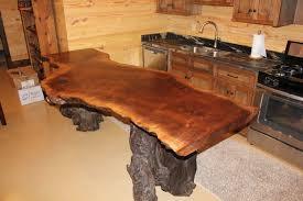natural wood countertops rustic home bar