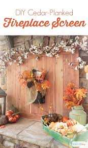 learn how to make your own farmhouse style diy fireplace screen using tongue and