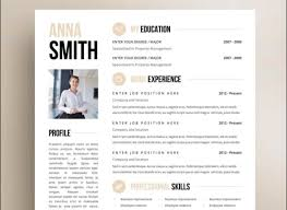 Creative Resume Templates Word Techniques For Managing Theses