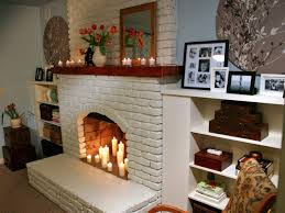 white brick fireplace mantel decorating ideas