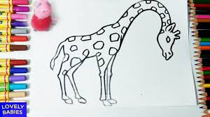 Printable Coloring Pages coloring page giraffe : giraffe coloring pages - giraffe coloring pages for kids - giraffe ...