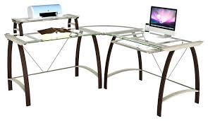 glass top desk office depot. l shaped glass top desk office depot kayden contemporary desks and hutches c