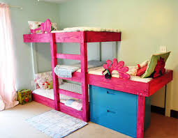 Toddler bunk bed flower