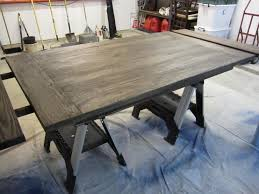 Refinished Kitchen Tables How To Stain Dining Room Chairs Refinished Tabletop Use An