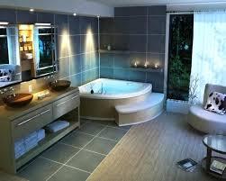 modern outdoor jacuzzi tub corner wood vanities bathroom design lighting