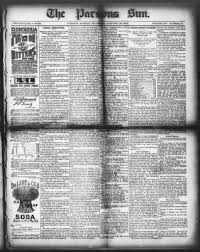 The Parsons Weekly Sun from Parsons, Kansas on January 28, 1886 · Page 1