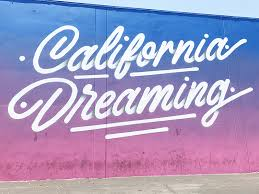 california dreaming mural next to chinese laundry headquarters and see s candy headquarters on la cienega blvd on wall art stores los angeles with the most unique wall art around los angeles california