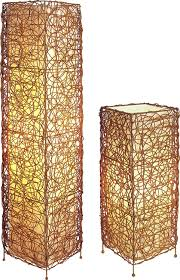 Vine Style Table And Floor Lamp Set