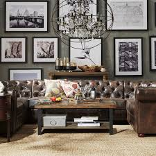 Knightsbridge Tufted Scroll Arm Chesterfield 9-seat U-shaped Sectional by  iNSPIRE Q Artisan (Dark Grey Velvet), Black (Bonded Leather)