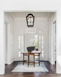 elegant foyers with synthetic area rugs and