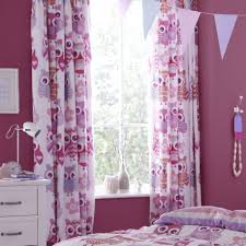 Purple Curtains For Girls Bedroom Owl Bedroom Curtains