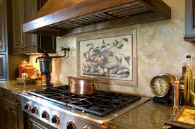 Mural Tiles For Kitchen Decor Kitchen Awesome Backsplash Kitchen Tile Murals With Beige Tile