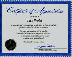 Examples Of Certificates Of Appreciation Wording Interesting Certificate Of Appreciation Wording For Employees Simple Words For