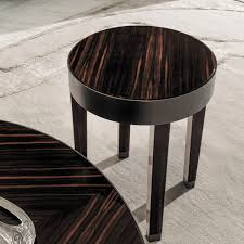 contemporary side table walnut ebony metal ring y 727 by giuseppe viganò