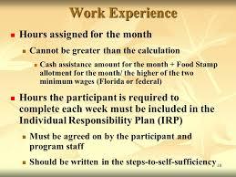 11 The Welfare Transition Program Work Activity Definitions