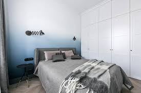 This Bedroom Has A Soft Blue Ombre Accent Wall CONTEMPORIST