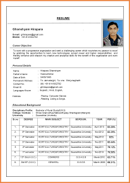 Latest Best Resume Format Sop Proposal