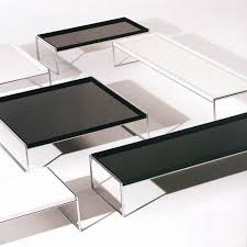 kartell trays plastic coffee table cocktail table ultra modern black and white leather glass coffee table