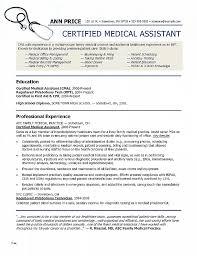 Medical Assistant Resume Templates Interesting Resume Unique Medical Assistant Resume Templates Medical Assistant