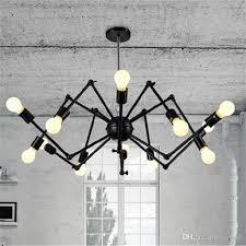 adjule der chandelier vintage edison light ceiling pendant light retro style lighting fixture 6 8 12 18 heads bedroom hanging lights ceiling lights