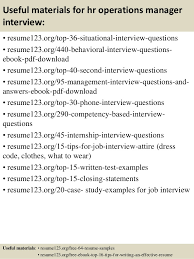 ... 12. Useful materials for hr operations ...