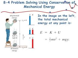11 8 4 problem solving using conservation of mechanical energy in the image on the left the total mechanical energy at any point is